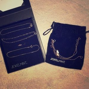JEWELMINT 6 bracelets and 1 heart ring box pouch